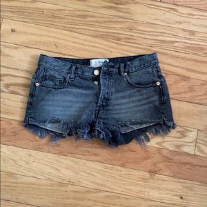 We the free free people black jean shorts
